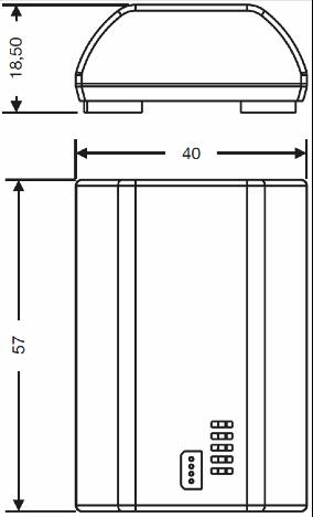 MÓDULO DE PROGRAMACIÓN PC O BLUETOOTH – TA PRO 060 - Dimensiones - Dinuy