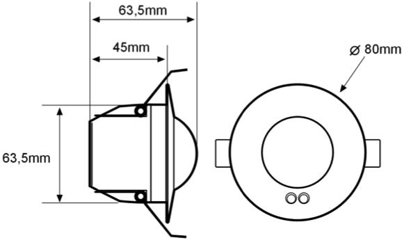 DETECTOR DE MOVIMIENTO 1-10V – DM TE1 002 - Dimensiones - Dinuy
