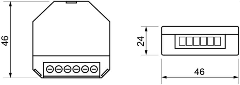 DIMMER FOR DALI DRIVERS OR BALLASTS – RE PLA DA1 - Dimensions - Dinuy