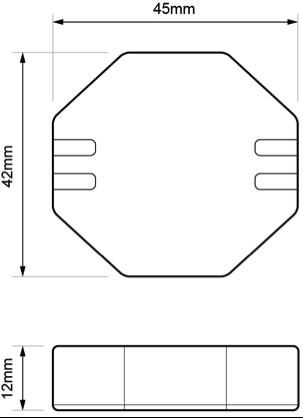 REGULADOR PARA LÁMPARAS LED 2 HILOS – RE PLA LE0 - Dimensiones - Dinuy