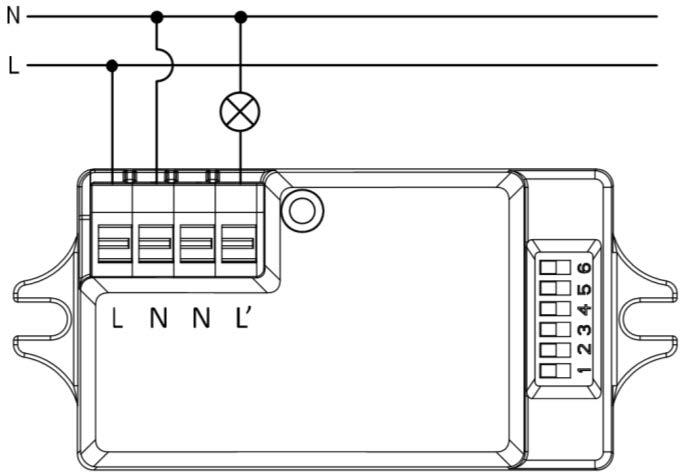 DETECTOR DE MOVIMIENTO OCULTO – DM HF1 000 - Esquema de instalación - Dinuy
