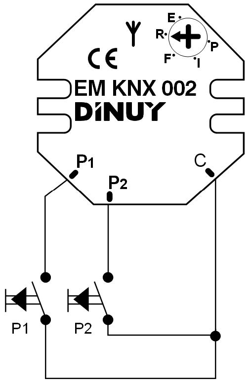 INTERFAZ INALÁMBRICO – EM KNX 002 - Esquema de instalación - Dinuy