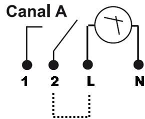 INTERRUPTOR HORARIO SEMANAL DE 2 CANALES NFC – IH TER MC2 - Esquema de instalación - Dinuy