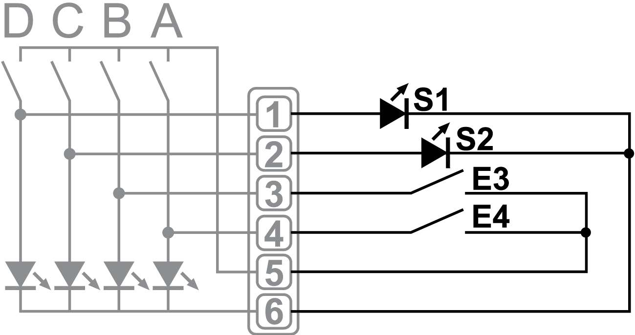 4-CHANNEL BINARY INPUT/OUTPUT - EM KNT 001 - Installation scheme - Dinuy