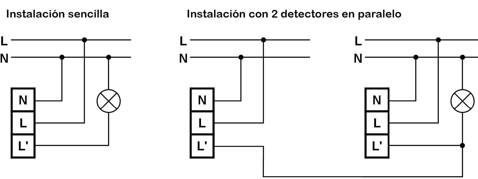 DETECTOR DE MOVIMIENTO DE TECHO GRAN COBERTURA – DM TEC 300 - Esquema de instalación - Dinuy