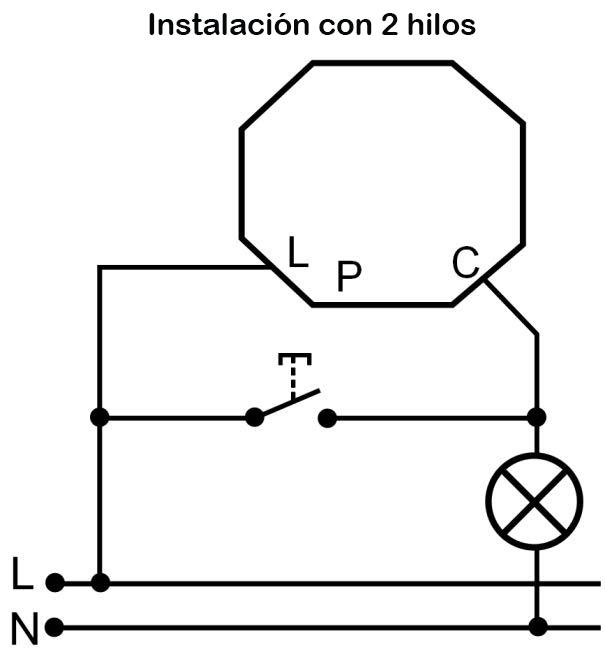 MINUTERO DE MECANISMO – MI PLA 001R - Esquema de instalación - Dinuy