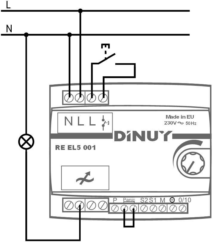 REGULADOR MODULAR RL – RE EL5 001 - Esquema de instalación - Dinuy