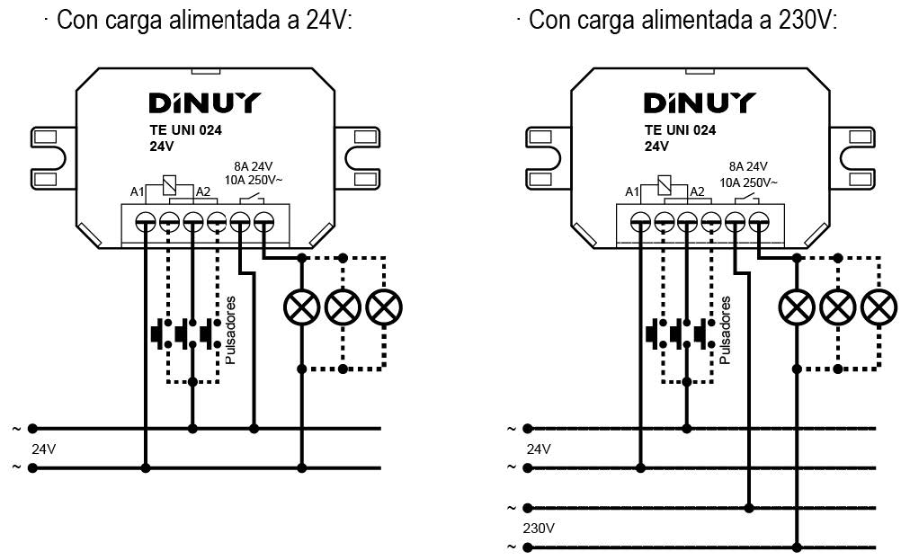 MICROTELERRUPTORES – TE UNI 024 - Esquema de instalación - Dinuy