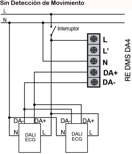 DALI CONSTANT LIGHT CONTROL DALI – RE DMS DA4 - Installation scheme - Dinuy