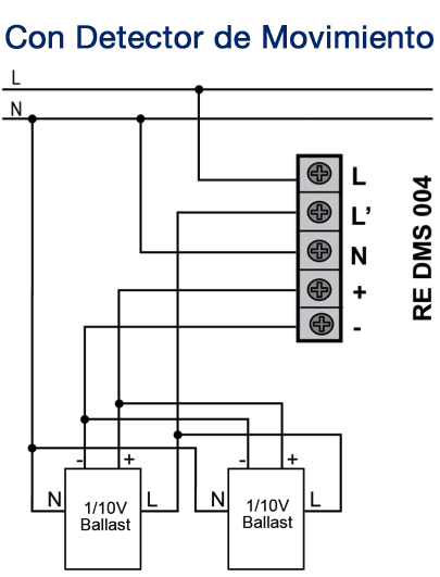 1-10V CONSTANT LIGHT CONTROL – RE DMS 004 - Installation scheme - Dinuy