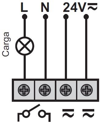 DETECTOR DE MOVIMIENTO 24V – DM TEC 241 - Esquema de instalación - Dinuy