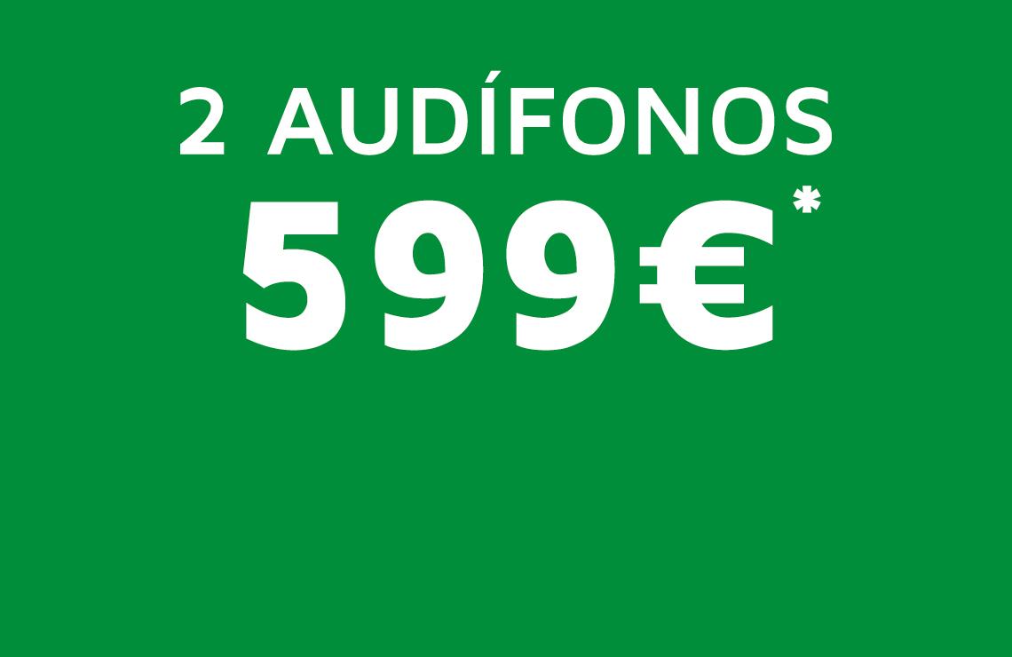 Ya no hay excusas para cuidar de su salud auditiva, llévate una pareja de audífonos por 599€