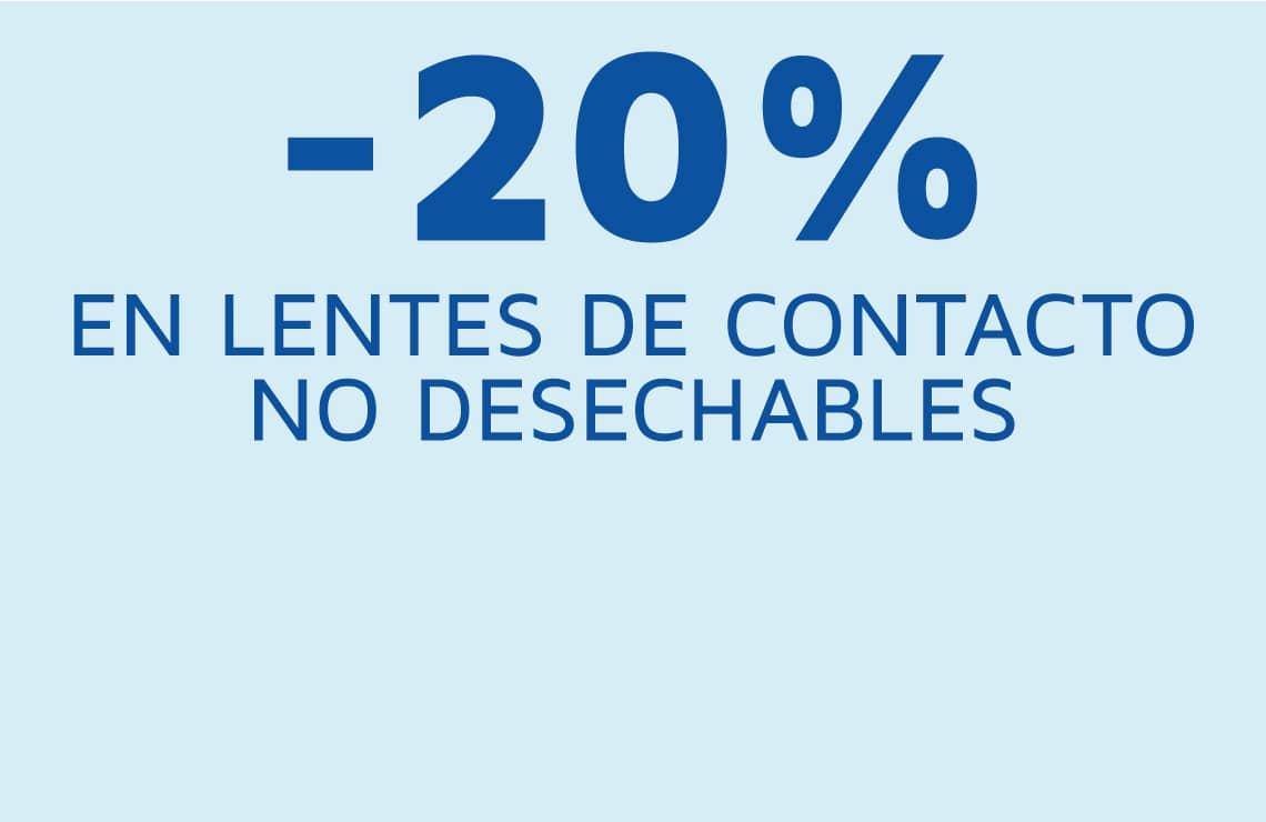 20% de descuento en lentes de contacto no desechables