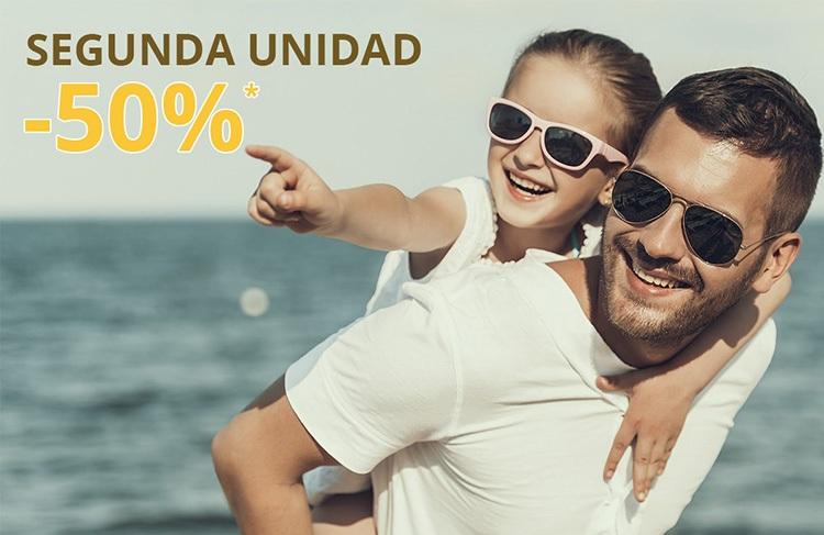 No te quedes con las ganas de unas segundas gafas de sol y llévatelas con un 50% de descuento