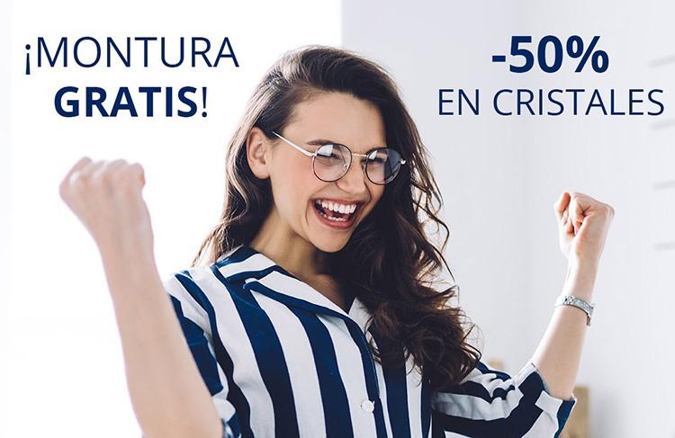 ¡SÚPER CHOLLO! Montura gratis + 50% de descuento en cristales