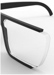lente extra reducida con índice 1.67