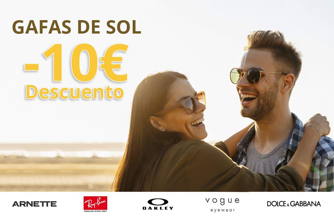 10€ de descuento en tus gafas de sol favoritas, ¡solo hasta este domingo!