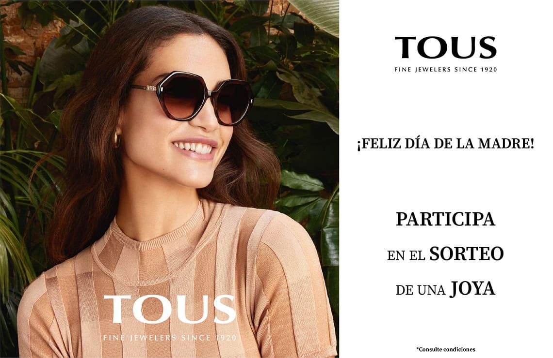 Por la compra de tus gafas de sol o gafas graduadas Tous, entra en el sorteo de una joya valorada en 120€