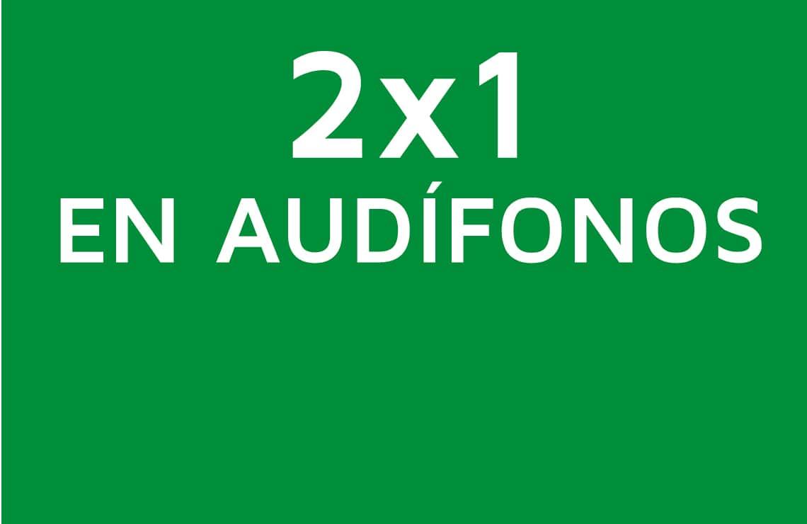 Mejora tu calidad de vida con un 50% de descuento en la compra de una pareja de audífonos.