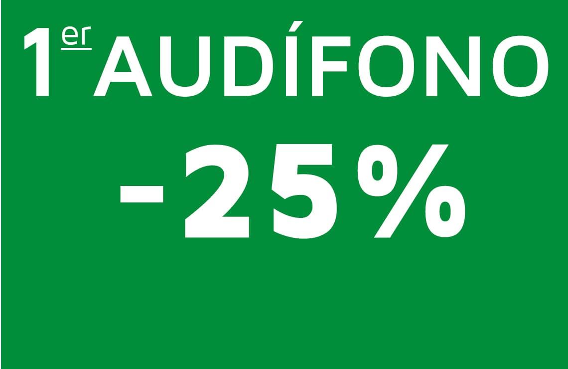 Mejora tu calidad de vida con un 25% de descuento en tu primer audífono