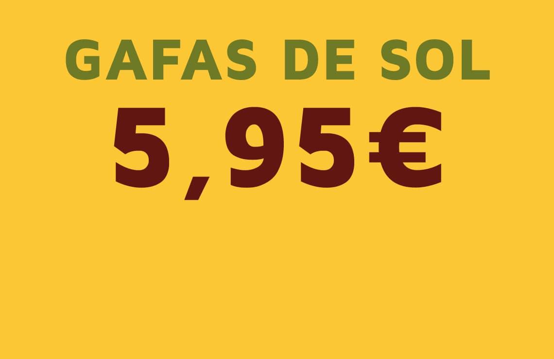 Estrena gafas de sol por solo 5,95€