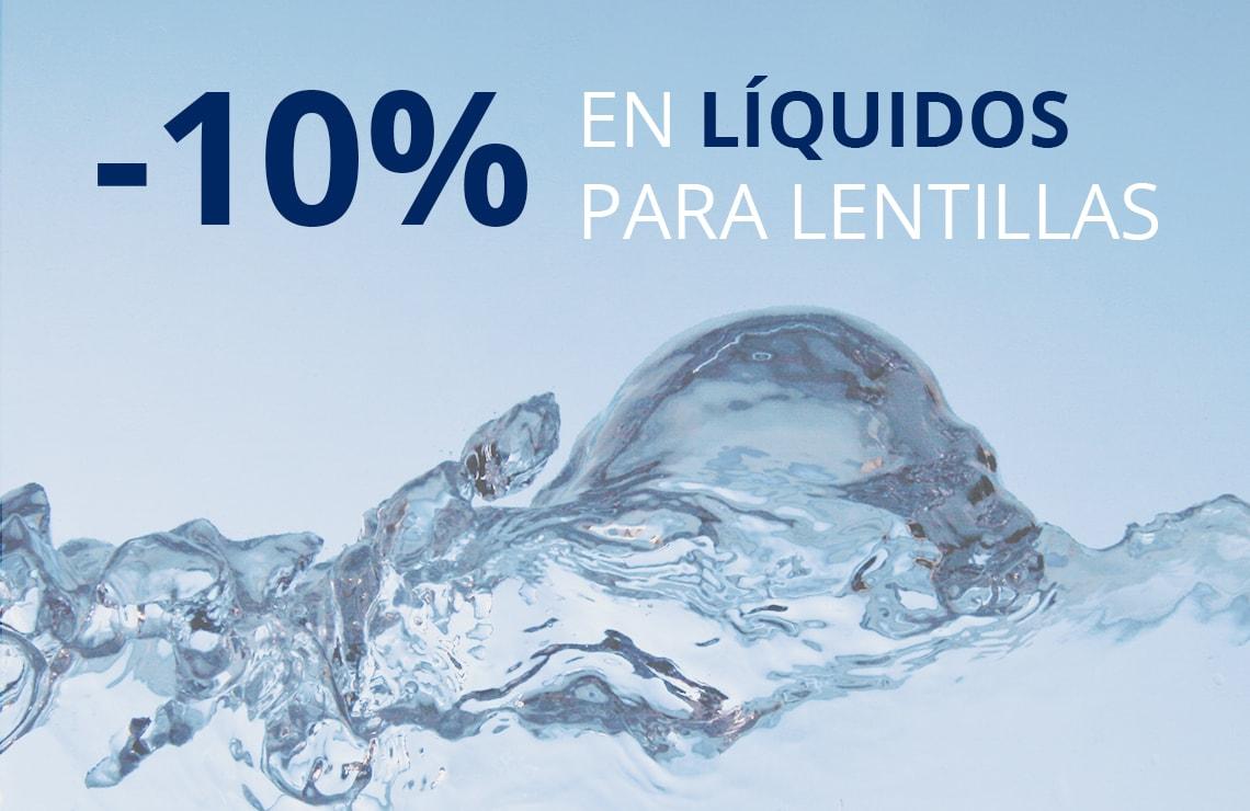 Cuida tus lentillas con un 10% de descuento en líquidos