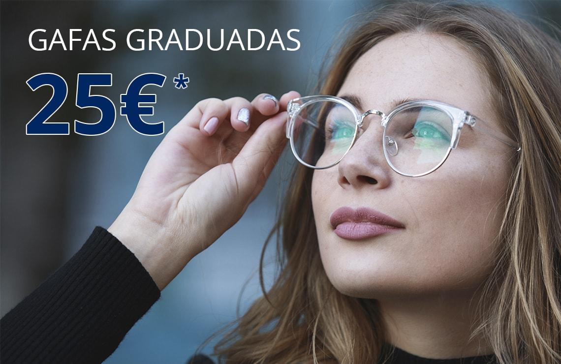 Disfruta de unas gafas graduadas  por solo 25€ incluso de sol graduadas