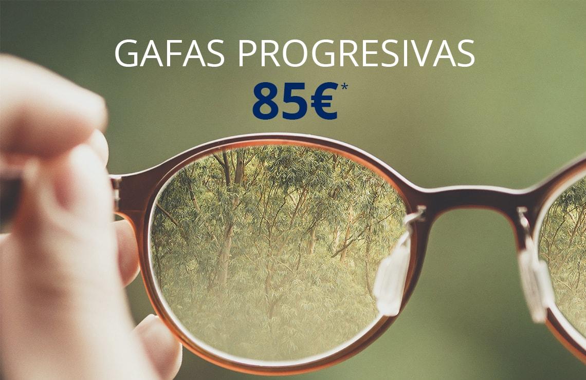 Disfruta de unas gafas graduadas progresivas por solo 85€ incluso de sol graduadas