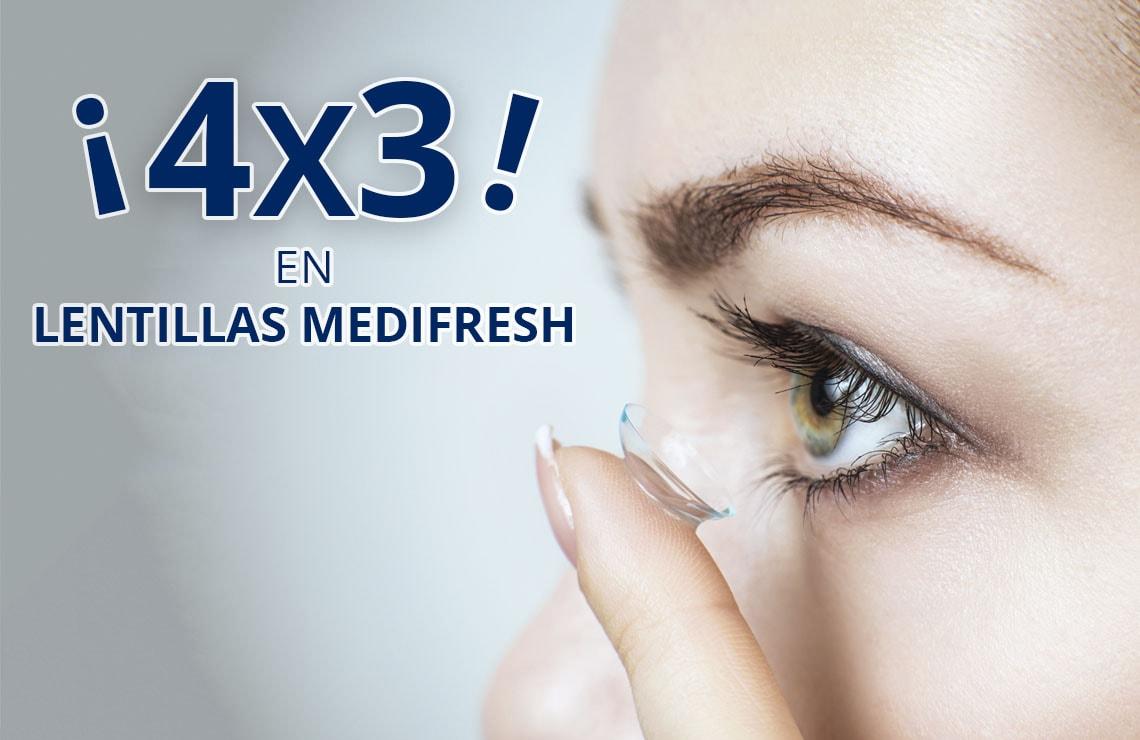 Prepárate para el verano con el 4x3 en lentillas Medifresh 3.0
