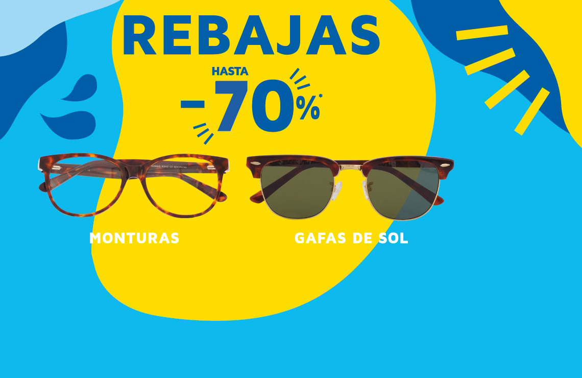 Promociones especiales: Hasta el 70% de descuento en gafas de sol y monturas