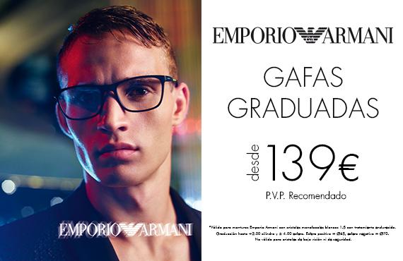Elige tus gafas graduadas Emporio Armani desde 139€