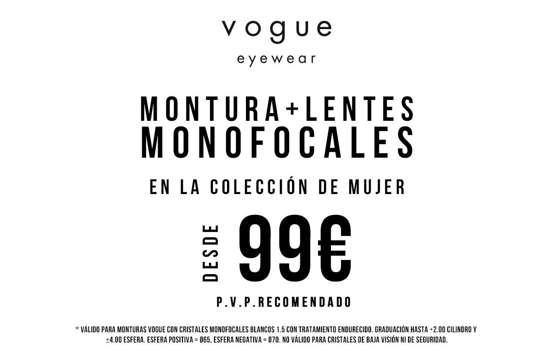 Gafas graduadas monofocales de Vogue por 99€