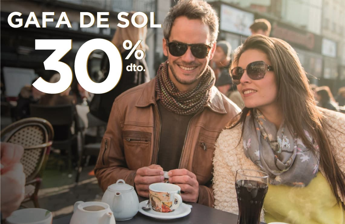Llévate tus gafas de sol de primeras marcas con un 30% de descuento