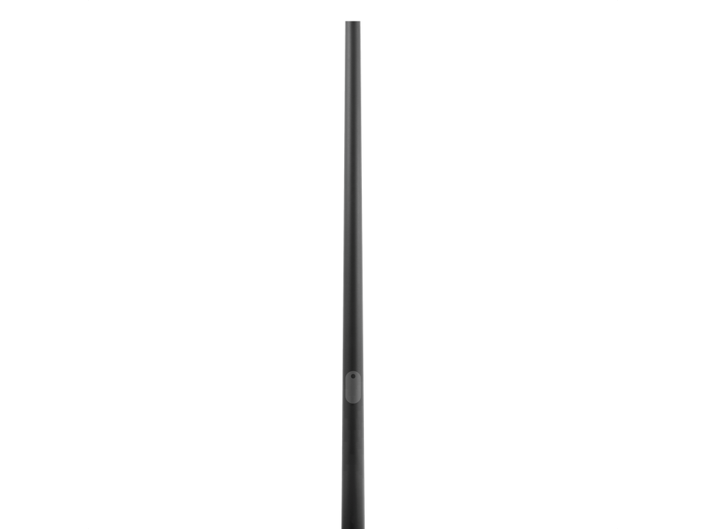 Round tapered aluminum poles with embedded base
