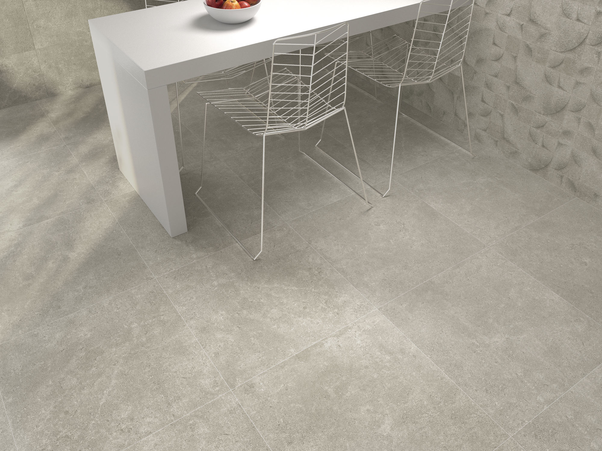 Icon Grey 60x60 cm. Icon Grey 30 x 90. Decor Shape Grey 30 x 90 cm.