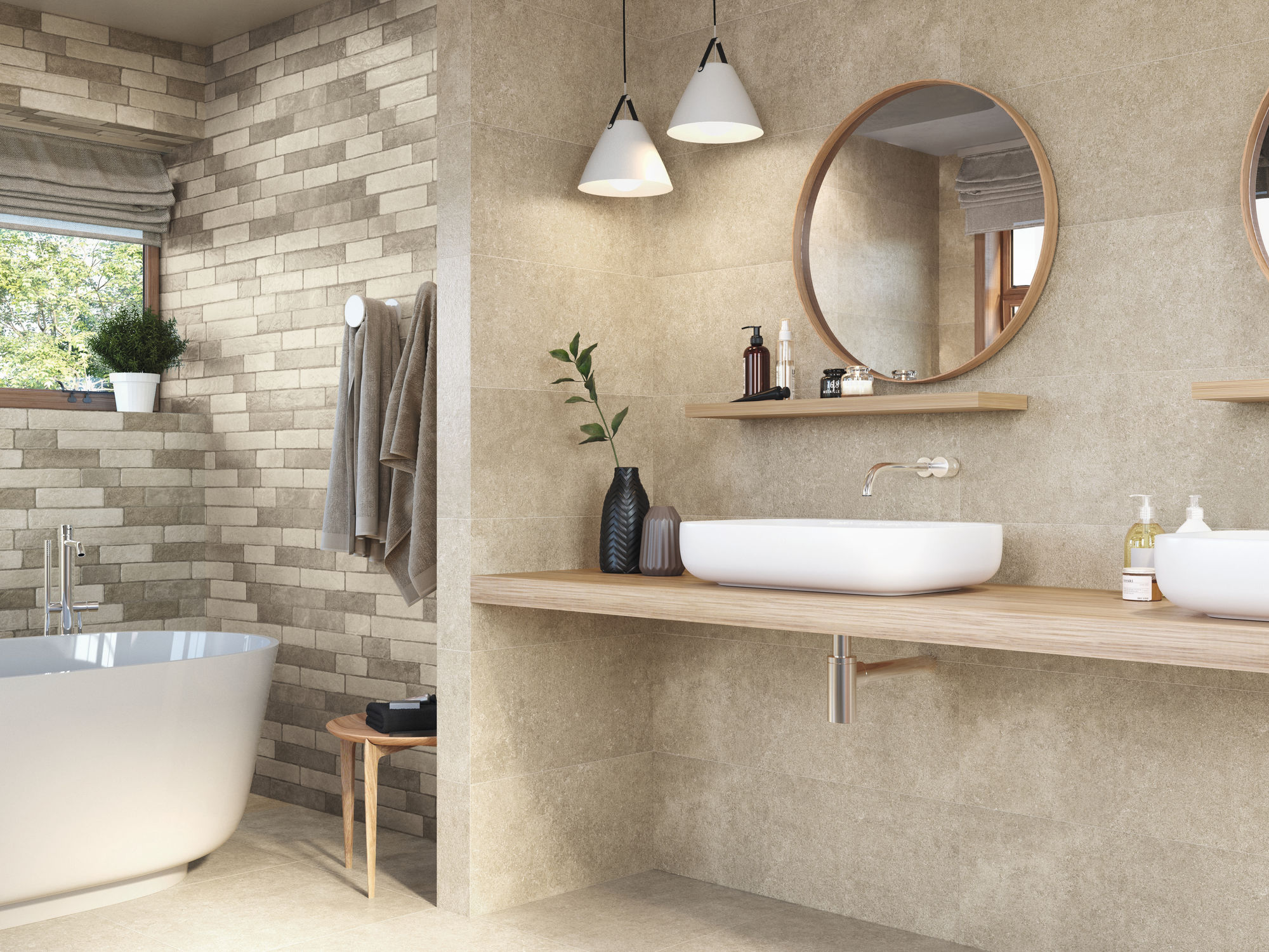 Slim Ozone Taupe 30X90. Relieve Tegel Menhir Taupe 30x90. Ozone Taupe 60X60.