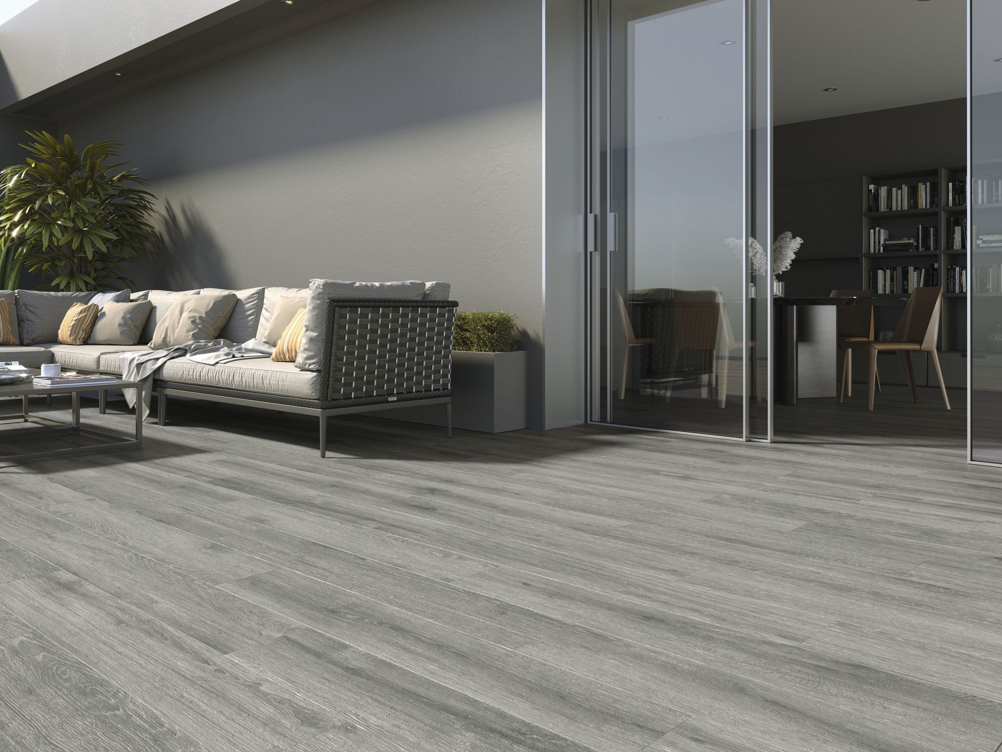 Ducale Grey Anti-Slip 20x120 cm.