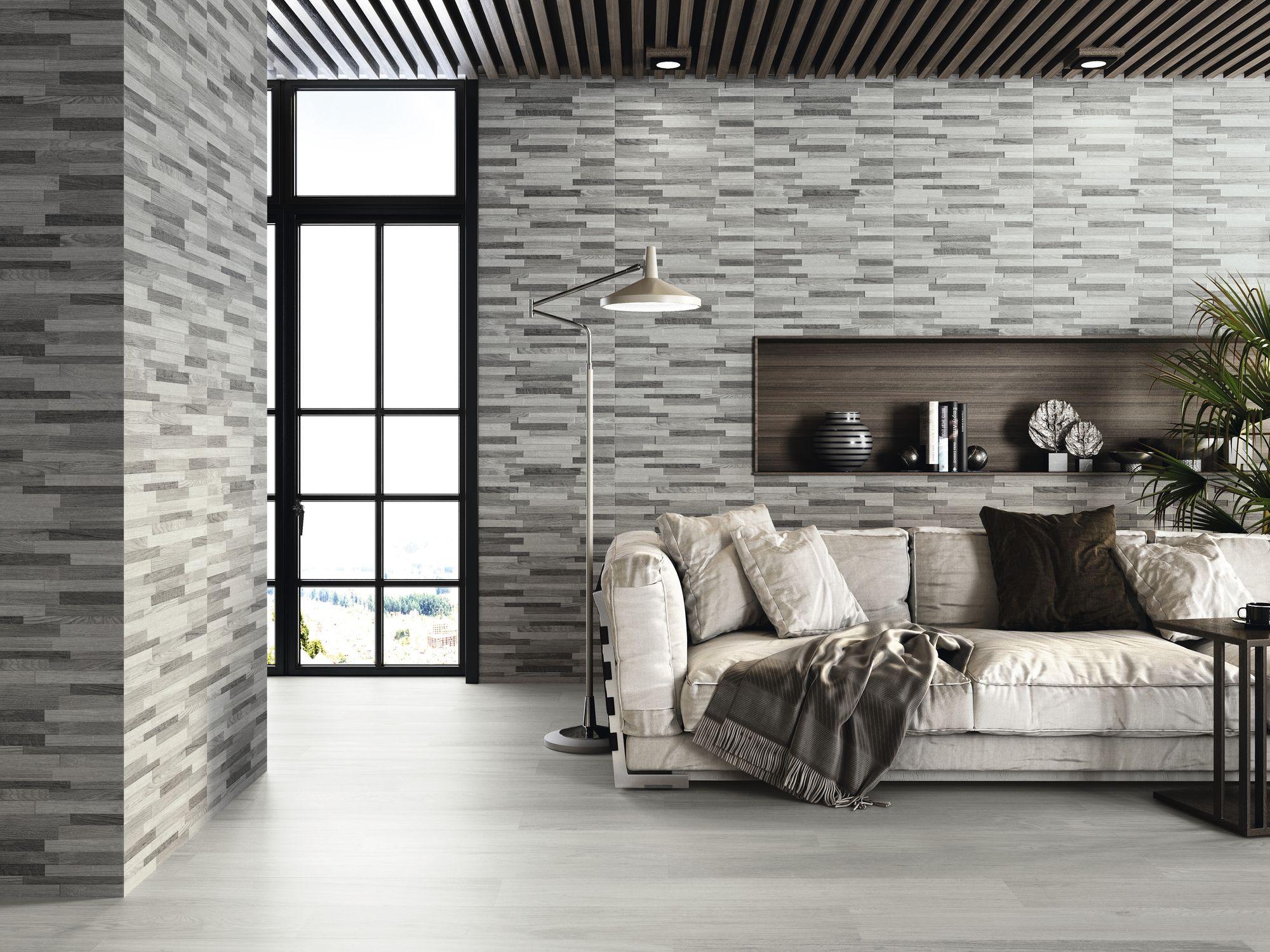 Brickwood Otawa Winter 30x60 cm. Pavimento Otawa Ceniza 20x120 cm.