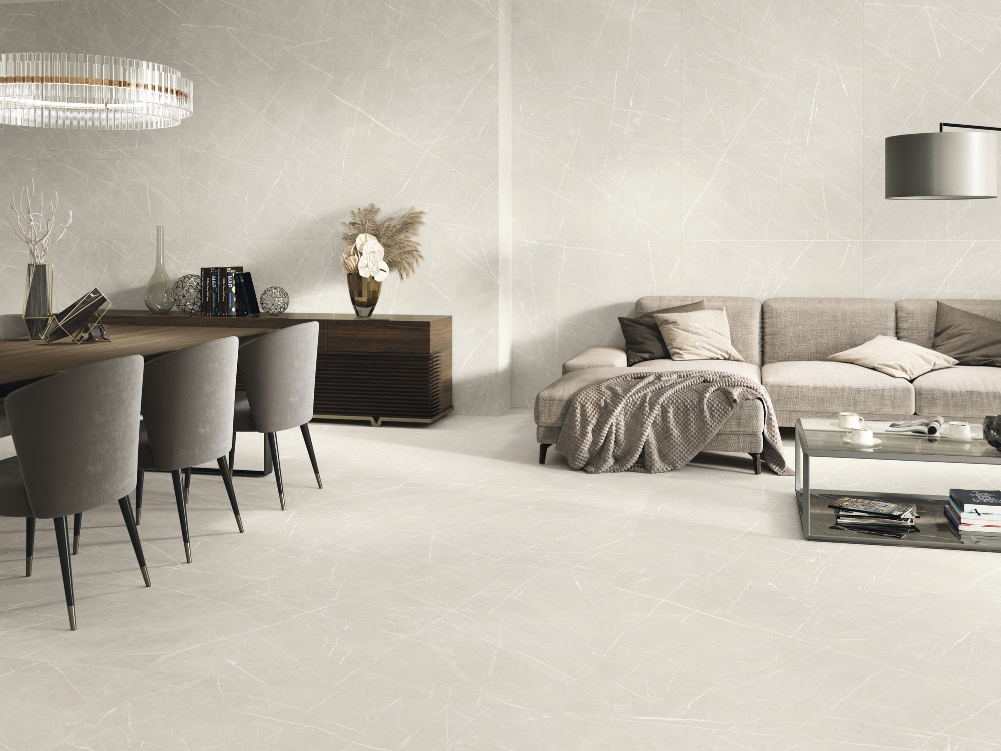 Eternal Cream Natural 60 x 120 cm. Pavimento Eternal Cream Natural 120 x 120 cm.