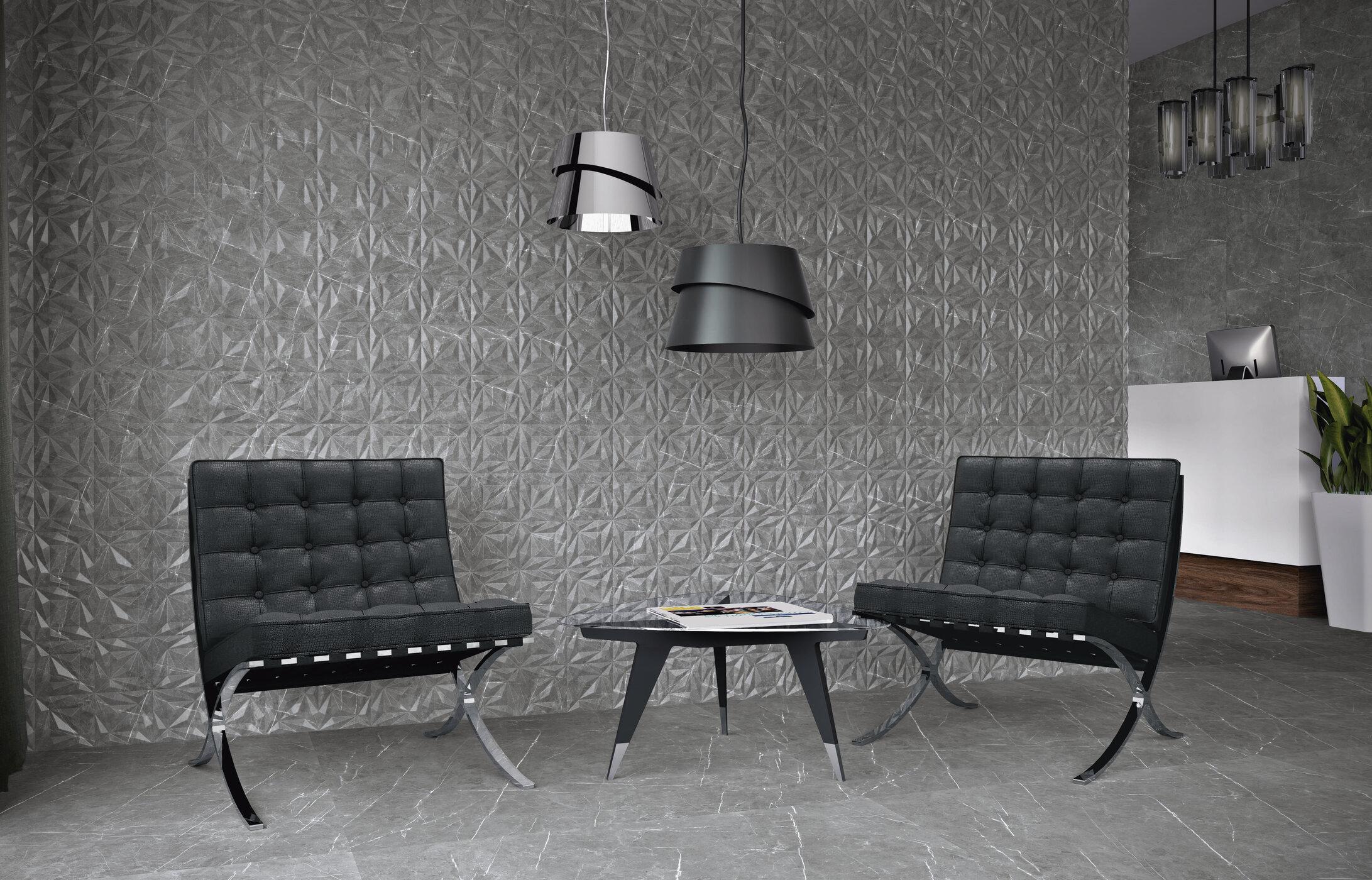 Tavi Tessino Grey 15 x 15 cm.  Tessino Grey 60 x 60 cm. Rectificado.