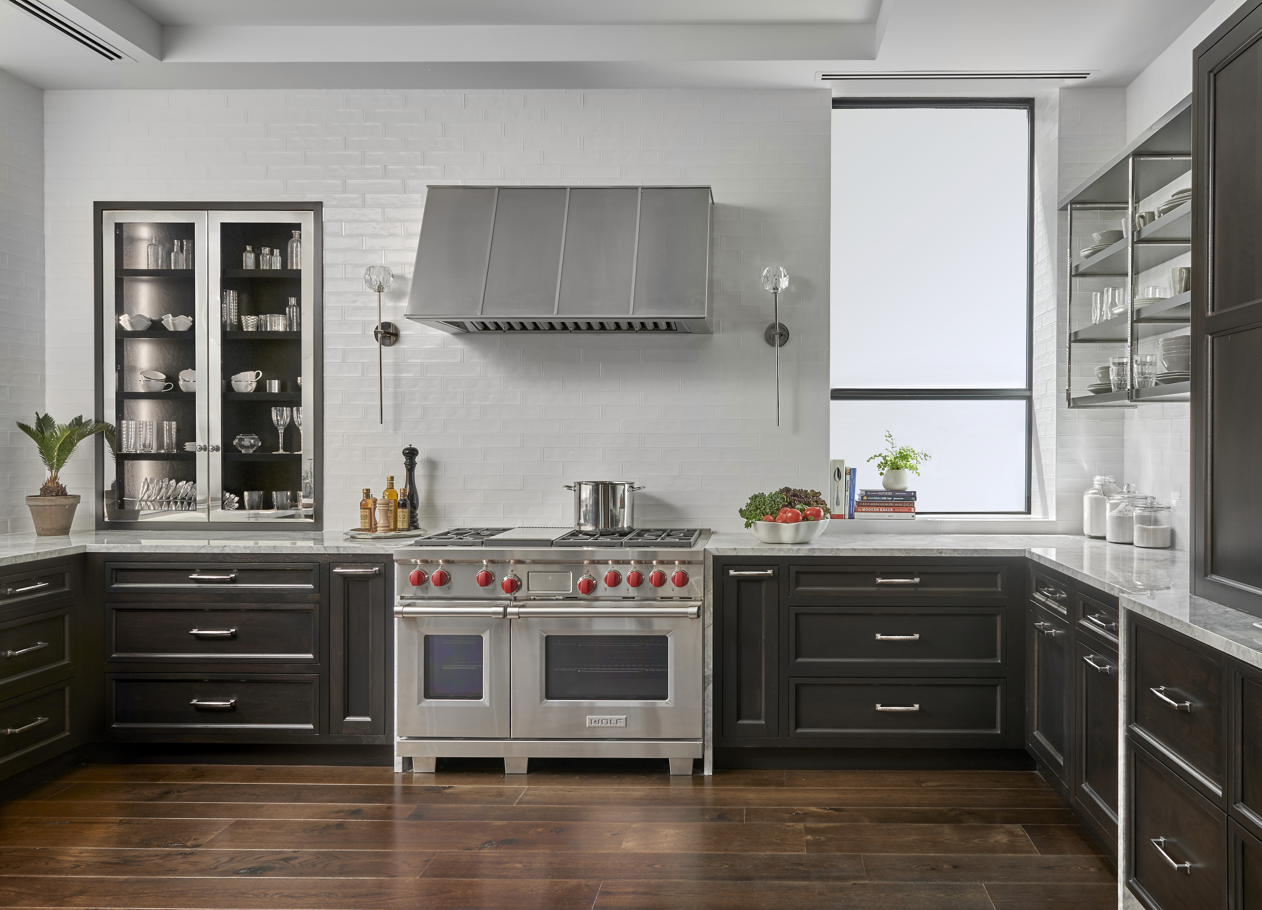Photography: Tony Soluri, Cabinetry: Plain and Fancy Cabinets, Showroom/Design: 210 Design House, Tile/Stone Installation: GI Stone