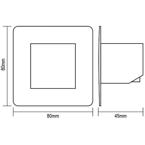 TOUCHLESS PUSHBUTTON - Dimensions - Dinuy