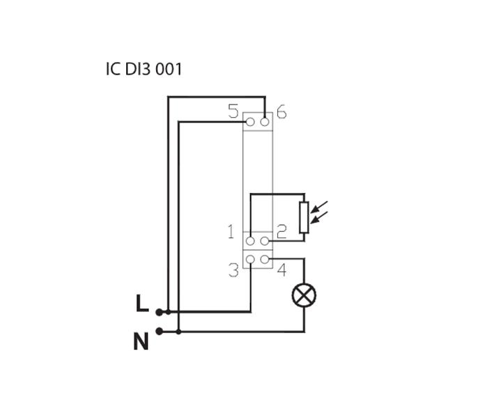 INTERRUPTOR CREPUSCULAR – IC DI3 001 - Esquema de instalación - Dinuy